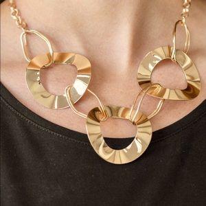 Modern Mechanics - Gold Necklace